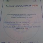 Dyplom za udział w konkursie Lodołamacze 2008. Powiększ zdjęcie.