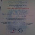 Dyplom - przyznanie srebrnego medalu na etapie regionalnym konkursu. Powiększ zdjęcie.