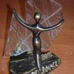 Statuetka otrzymana w konkursie Lodołamacze 2010. Powiększ zdjęcie.