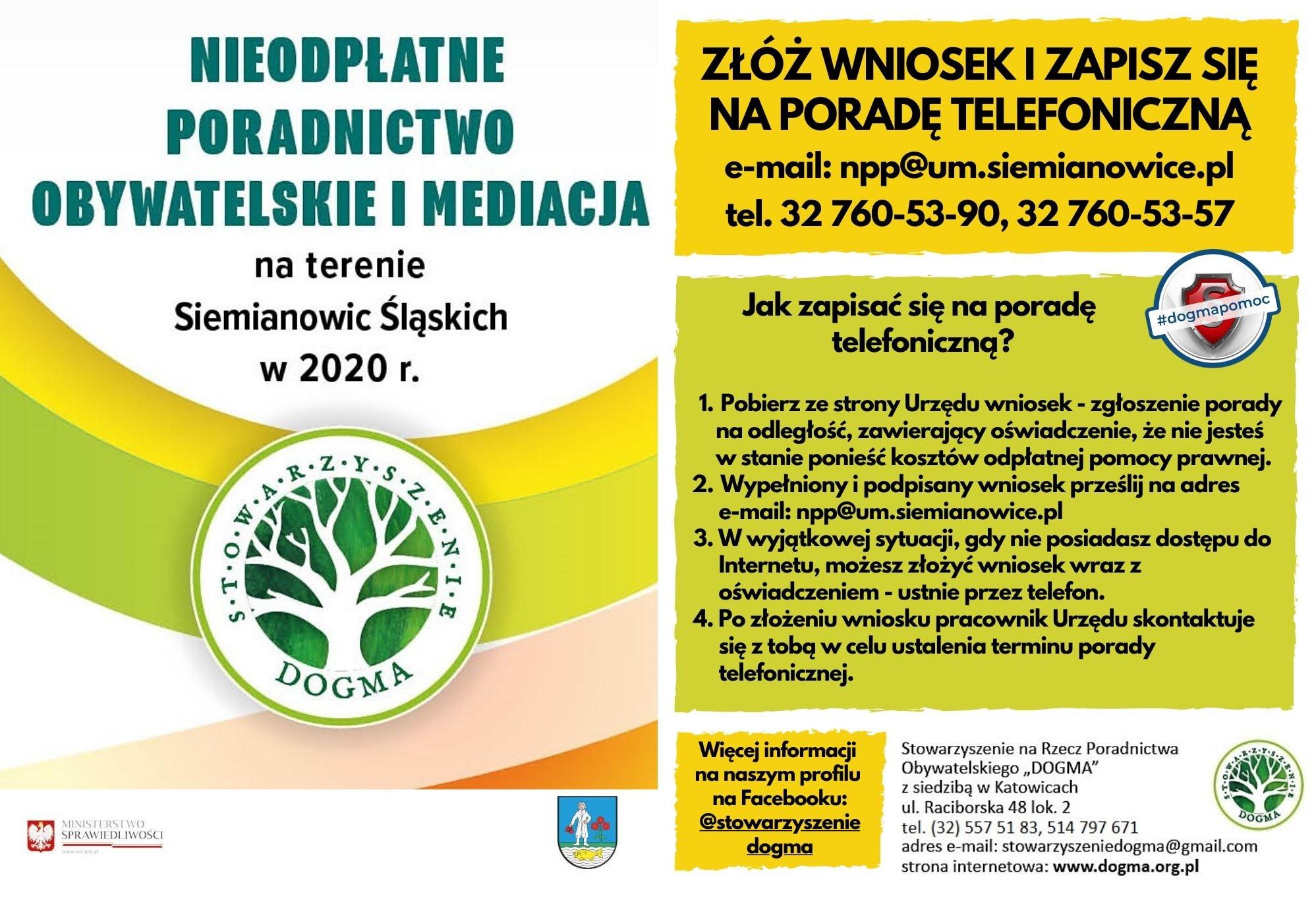 Siemianowice Śląskie_ulotka zapisy na porady telefoniczne